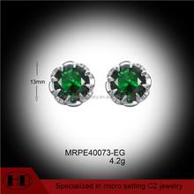 925 silver earring manufacturer turmaline zircon