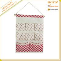 Hot selling fabric organizer hanging bag/wall storage pocket