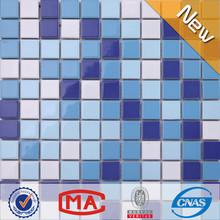 Jy-sw-02 25*25*6mm decorar azulejos de mosaico de cerámica hoja de natación de la piscina de azulejos de mosaico