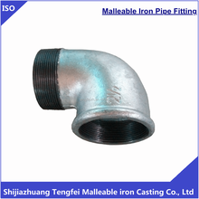 Galvanized malleable iron pipe fittings street elbow 92