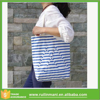 2015 New Fashion Original Canvas Bag - Blue stripe/ Tide Canvas Shoulder Bag Striped Cloth Bag For Women cheap handbags online