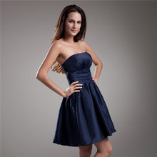 2015 Blue Boot Tube Sleeveless Simple Party Evening Dress From China