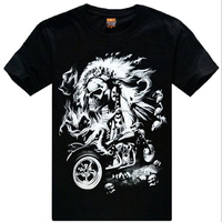 simple pattern printed men's round neck t shirt for export