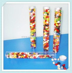 Clear Plastic Container with Flip Top Plug For candy plastic tube containers See-Through Plastic Tube