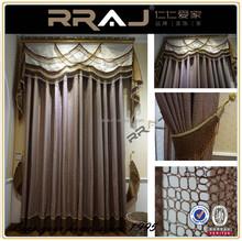 With sheer and valance printed Polyeste hotel curtain