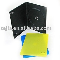 PP 9mm black single dvd case with eco-friendly