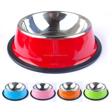 Wholesale Stainless Steel Pet Metal Dog Feeder Bowl For Food And Water