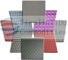3mm anti slip fine ribbed rubber sheet/rubber matting