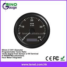 85mm Marine Auto Meter 4000 RPM Tachometer