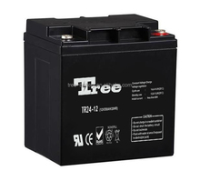 Maintenance free sealed rechargeable batteries 12 volt battery for UPS SOLAR WIND agm battery 12v 24ah