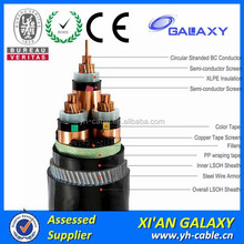 Electric Power Cable With Large Wooden Cable Spools For Sale
