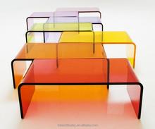 Custom a variety of colors minimalist design acrylic coffee table quality assurance