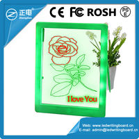 2015 high quality ABS rewritable white color kids electronic erasable writing pad with free marker pen