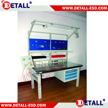 laminated MDFplastic ESD steel metal work tableswith modular accessories for quick ship station