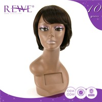 Excellent Quality Make To Order Tangle Free Red Annie Hair Short Burgundy Adjustable Wig Strap