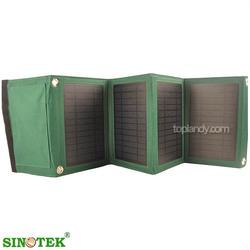SINOTEK folding solar panel 5V usb phone charger solar energy 14W