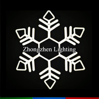 high quality commercial grade led acrylic snowflake light