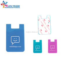 Advertising 3m sticker silicone smart wallet,silicone card holder