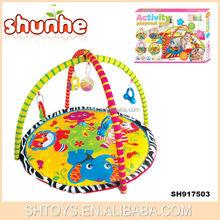 Comfortable cotton play mat indoor play mat rubber baby play mats