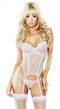 Lingerie Women White Satin Lace Adult Erotic Porn Sexy Lingerie Costumes Underwear Sleepwear Wear Dress Baby Doll