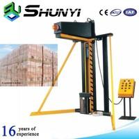 Suitable concrete block stretch film wrapping machine