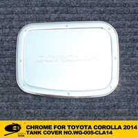 Chrome fuel tank cover cap for TOYOTA COROLLA 2014 champ chromed car accessories