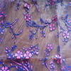 JM-US14T-025 holographic foil fabric for clothing lace wedding dress
