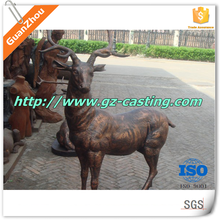 Alibaba china guanzhou casting foundry OEM custom design outdoor arts and crafts cast iron deer statue