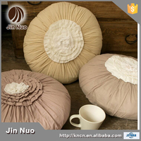 JINNUO pastorable style cotton solid round size cushion for sofa chair and floor