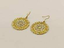 Fashion alloy flower earring