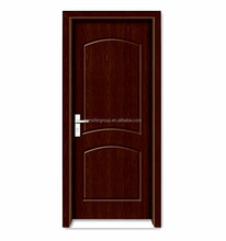 High quality solid wooden door with pvc film PV-8177