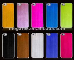 phone case Silkscreen aluminum metal hard cover case for iphone 5 5s many colors