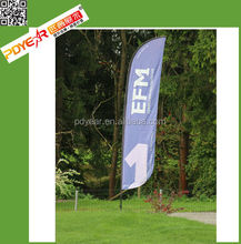 Factory High quality Outdoor Teardrop flag, feather flag, beach flag for advertising