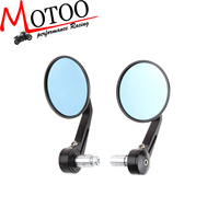 Motoo - Round Motorcycle Bike Rearview Mirror Side Mirror With 7/8'' Hollow Handlebar CNC Aluminum For HONDA CBR 600 F