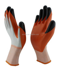 Cheap glove nitrile coating polyester glove oil resistant protective glove