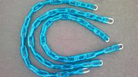 Case Hardened Security Chain with Plastic Sleeve
