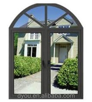 fashionable new style hot sale aluminum top part arch window
