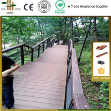 High quality outdoor ground non fading wpc wood look flooring