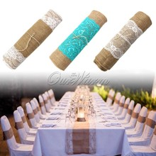 custom design and size jute table runner for party wedding moq from 100 pcs
