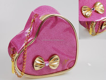 Heart/Rectanglar Glitter Cosmetic Case