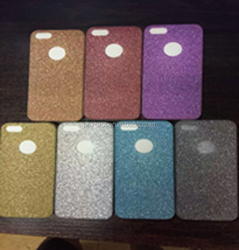 soft TPU cases cover for iphone 5s , shimmering powder case , glitter powder case
