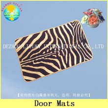 DZLY flocking nylon surface and TPR backed shoe cleaning door mat