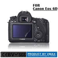 Factory Price !! PET Material LCD digital camera screen protector for Canon Eos 6D / OEM Screen protector