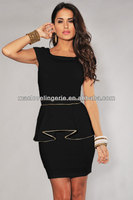 ML17938 office lady mini dresses office wear peplum pencil dress ladies office wear