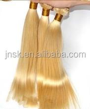 splendid virgin Indian human hair weaving with light color