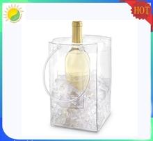 Tube Handle PVC wine bag Ice Bag cool bag