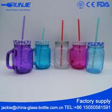 Low MOQ Simple Design blue mason jar value