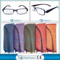 Brand new aluminum reading glasses case