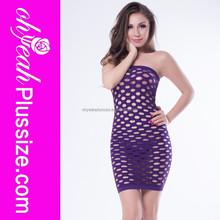 Charming fashion violet seamless pothole sexy babydoll 2015