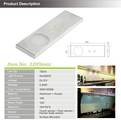 Foshan factory led cabinet light kit with touch sensor
